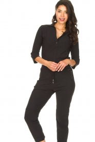 D-ETOILES CASIOPE |  Travelwear body blouse Anna | black  | Picture 4