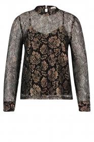 Aaiko |  Lace blouse Lott | black  | Picture 1