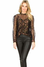 Aaiko |  Lace blouse Lott | black  | Picture 5
