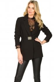 Aaiko |  Lace blouse Lott | black  | Picture 4