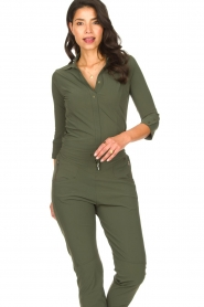 D-ETOILES CASIOPE |  Travelwear body blouse Anna | green  | Picture 4