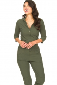 D-ETOILES CASIOPE |  Travelwear body blouse Anna | green  | Picture 2