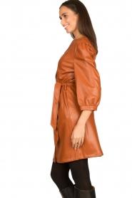 Aaiko |  Faux leather button-up dress Pleun | camel  | Picture 6