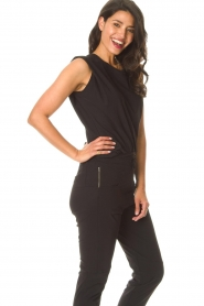 D-ETOILES CASIOPE |  Travelwear top with shouder pads Aline | black  | Picture 5