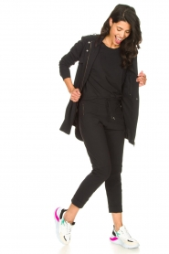 D-ETOILES CASIOPE |  Travelwear top with shouder pads Aline | black  | Picture 3