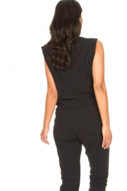 D-ETOILES CASIOPE |  Travelwear top with shouder pads Aline | black  | Picture 6