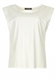 D-ETOILES CASIOPE |  Travelwear top with shouder pads Aline | white