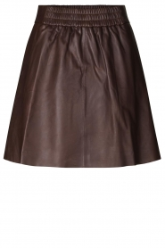 Second Female |  Lamb leather skirt Melvin | brown  | Picture 1
