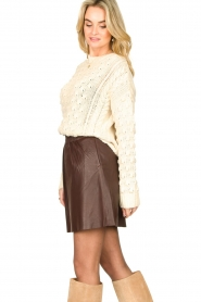 Second Female |  Lamb leather skirt Melvin | brown  | Picture 5
