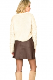 Second Female |  Lamb leather skirt Melvin | brown  | Picture 6