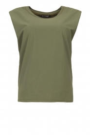 D-ETOILES CASIOPE |  Travelwear top with shouder pads Aline | green  | Picture 1