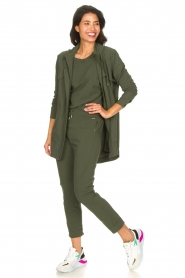 D-ETOILES CASIOPE |  Travelwear top with shouder pads Aline | green  | Picture 3