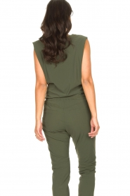 D-ETOILES CASIOPE |  Travelwear top with shouder pads Aline | green  | Picture 8