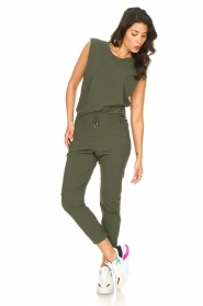 D-ETOILES CASIOPE |  Travelwear top with shouder pads Aline | green  | Picture 5