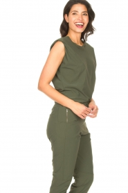 D-ETOILES CASIOPE |  Travelwear top with shouder pads Aline | green  | Picture 7