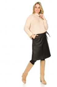 Second Female |  Knitted turtleneck Ivory | beige  | Picture 3