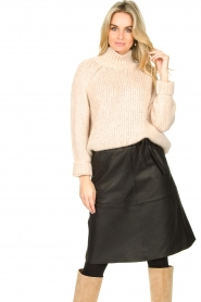 Second Female |  Knitted turtleneck Ivory | beige  | Picture 2