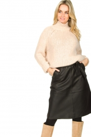 Second Female |  Knitted turtleneck Ivory | beige  | Picture 4