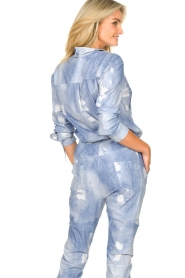 D-ETOILES CASIOPE |  Printed travelwear blouse Andrax | blue   | Picture 7