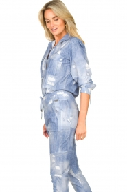 D-ETOILES CASIOPE |  Printed travelwear blouse Andrax | blue   | Picture 6