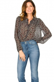 Second Female |  Floral blouse Kaylan | black  | Picture 2
