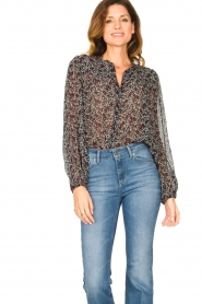 Second Female |  Floral blouse Kaylan | black  | Picture 5