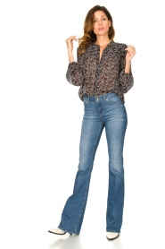 Second Female |  Floral blouse Kaylan | black  | Picture 3