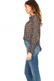 Second Female |  Floral blouse Kaylan | black  | Picture 6