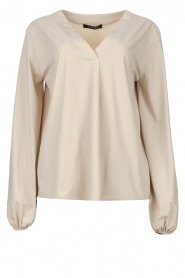 D-ETOILES CASIOPE |  Travelwear top with puff sleeve Arudy | cement
