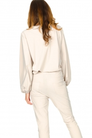 D-ETOILES CASIOPE |  Travelwear top with puff sleeve Arudy | natural  | Picture 7