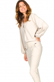 D-ETOILES CASIOPE |  Travelwear top with puff sleeve Arudy | natural  | Picture 5