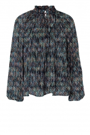 Second Female |  Flared blouse with print Movement | black  | Picture 1