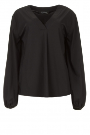 D-ETOILES CASIOPE |  Travelwear top with puff sleeve Arudy | black  | Picture 1