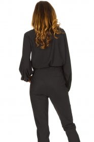 D-ETOILES CASIOPE |  Travelwear top with puff sleeve Arudy | black  | Picture 7