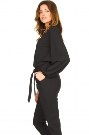 D-ETOILES CASIOPE |  Travelwear top with puff sleeve Arudy | black  | Picture 6