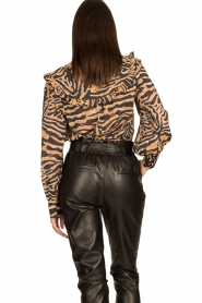 Second Female |  Zebra printed blouse Zebraly | brown  | Picture 6