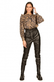 Second Female |  Zebra printed blouse Zebraly | brown  | Picture 3