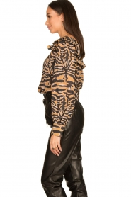 Second Female |  Zebra printed blouse Zebraly | brown  | Picture 5