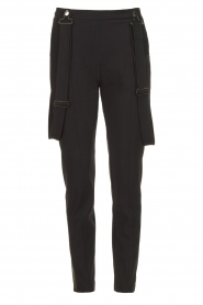 D-ETOILES CASIOPE |  Travelwear pants with suspenders Auray | black  | Picture 1
