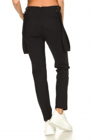 D-ETOILES CASIOPE |  Travelwear pants with suspenders Auray | black  | Picture 7