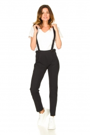 D-ETOILES CASIOPE |  Travelwear pants with suspenders Auray | black  | Picture 2