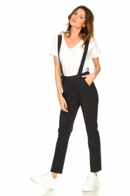 D-ETOILES CASIOPE |  Travelwear pants with suspenders Auray | black  | Picture 3