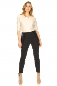D-ETOILES CASIOPE |  Travelwear pants with suspenders Auray | black  | Picture 4