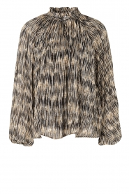 Second Female |  Printed ruffle blouse Roger | black  | Picture 1