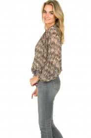 Second Female |  Printed ruffle blouse Roger | black  | Picture 5