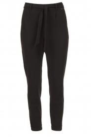D-ETOILES CASIOPE |  Travelwear pants with tie belt Antiqua | black  | Picture 1