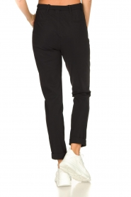 D-ETOILES CASIOPE |  Travelwear pants with tie belt Antigua | black  | Picture 8