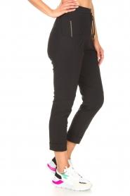 D-ETOILES CASIOPE | High waist travelwear broek Aqua | zwart   | Afbeelding 6