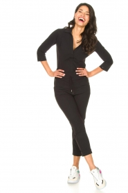 D-ETOILES CASIOPE | High waist travelwear broek Aqua | zwart   | Afbeelding 3