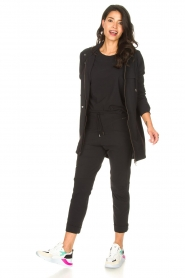 D-ETOILES CASIOPE | High waist travelwear broek Aqua | zwart   | Afbeelding 2